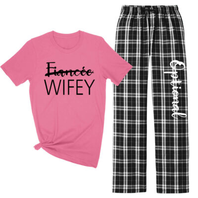 """Fiancee"" to ""Wifey"" Flannel Pant Set"