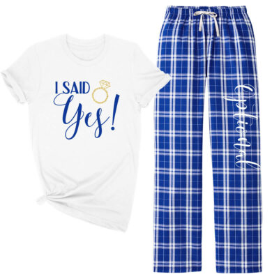 """I Said Yes!"" Flannel Pant Pajama Set"