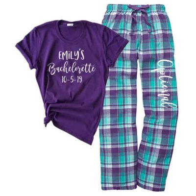 Bachelorette Party Flannel Pant Pajama Set