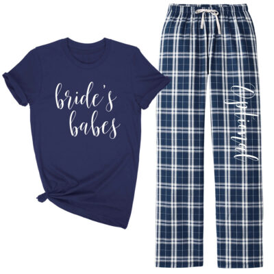 Bridal Party Flannel Pant Pajama Set