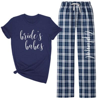 Bridal Party Flannel Pant Pajama Set