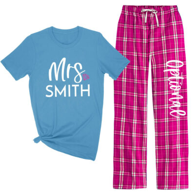"""Mrs."" Flannel Pant Pajama Set"