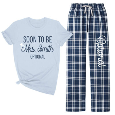 """Soon to be Mrs."" Flannel Pants Set"