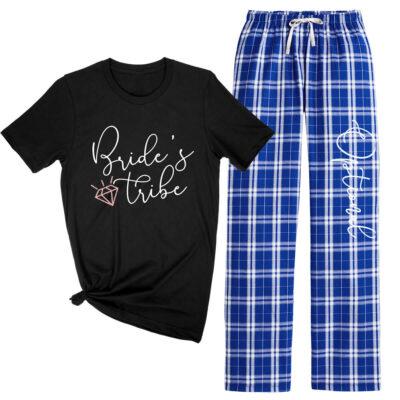 """""""Bride's Tribe"""" Flannel Pants Set"""