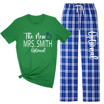 """The New Mrs."" Flannel Pants Set"