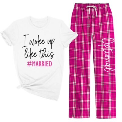 """Tied the Knot"" Flannel Pants Set"