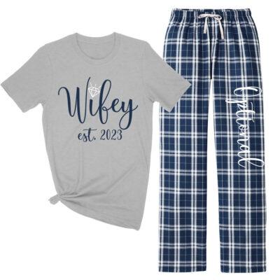 """""""Wifey"""" Flannel Pants Set"""