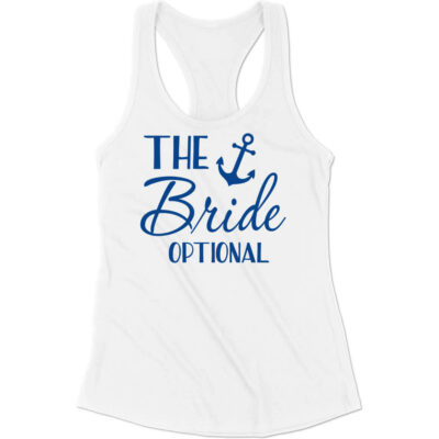 """The Bride"" Flowy Tank Top with Anchor"