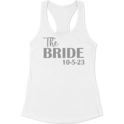 """""""The Bride"""" Tank Top with Date"""