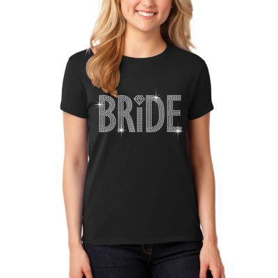 Rhinestone Bride T-Shirt with Heart