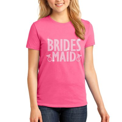 Rhinestone Bridesmaid T-Shirt - Block