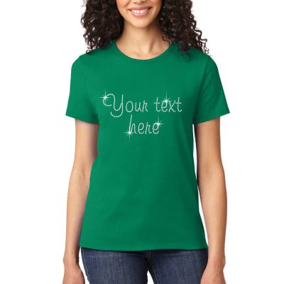 "Personalized ""I Heart"" Rhinestone Bride T-Shirt"