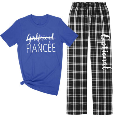 """Girlfriend"" to ""Fiancee"" Flannel Pant Pajama Set"