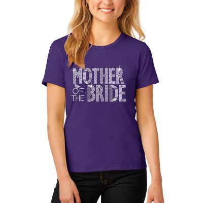 Rhinestone Mother of the Bride/Groom T-Shirt - Block