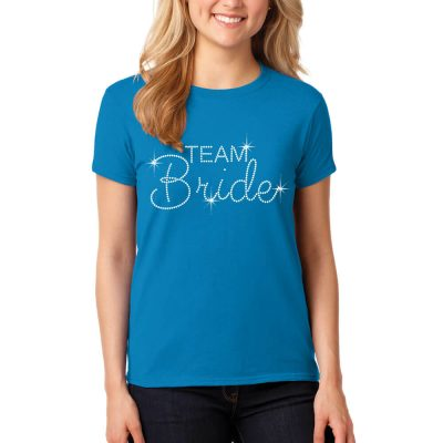 Rhinestone Team Bride T-Shirt with Date