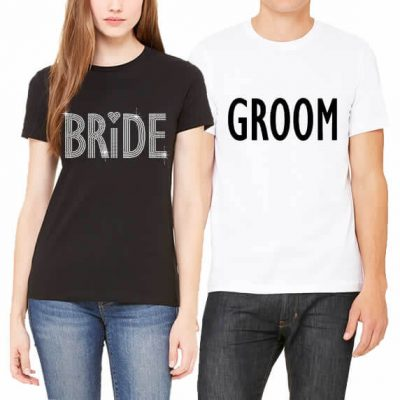 Bride & Groom T-Shirt Set