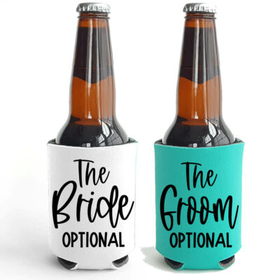 """The Bride/Groom"" Koozie"