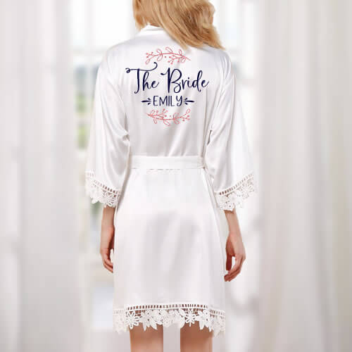The Bride Satin Robe - Featured