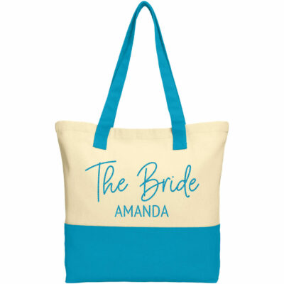 """The Bride"" 2-Tone Tote Bag with Name"