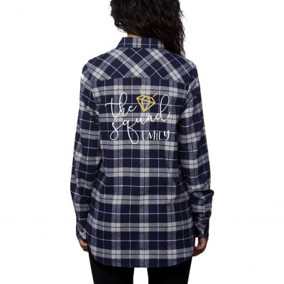 """The Squad"" Flannel Shirt with Diamond"