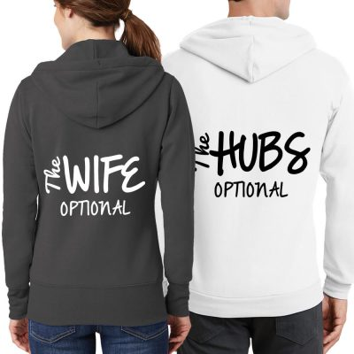 """The Wife"" & ""The Hubs"" Full-Zip Hoodie Set"