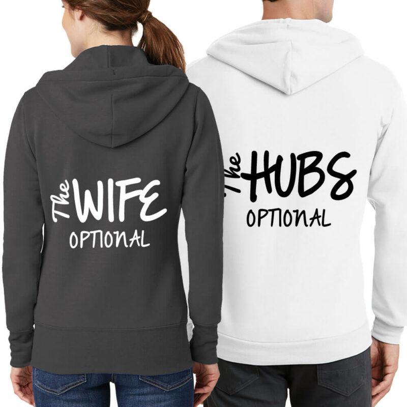 """""""The Wife"""" & """"The Hubs"""" Full-Zip Hoodie Set"""