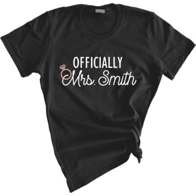 """Officially Mrs."" Bride Shirt"