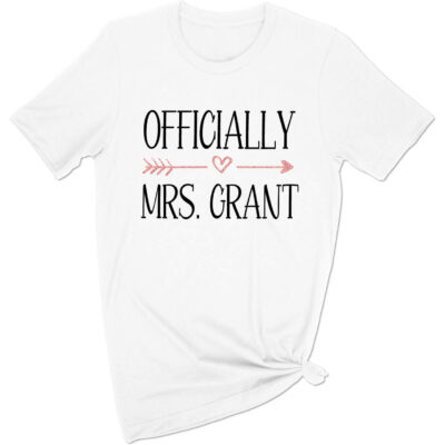 """Officially Mrs."" T-Shirt"
