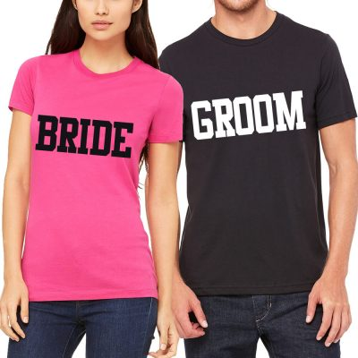 Bride & Groom T-Shirt Set - Block