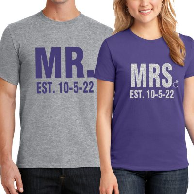 Mr. & Mrs. T-Shirt Set with Date