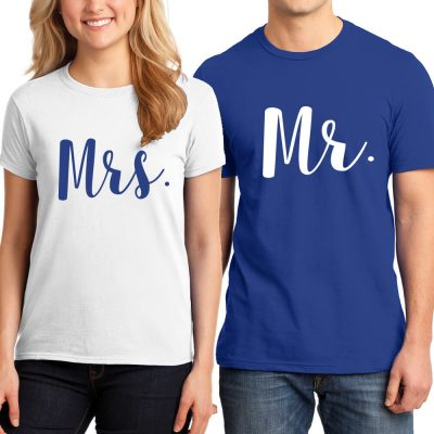 Mr. & Mrs. T-Shirt Set - Script