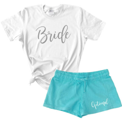 Design Your Own Bride T-Shirt & Shorts Pajama Set