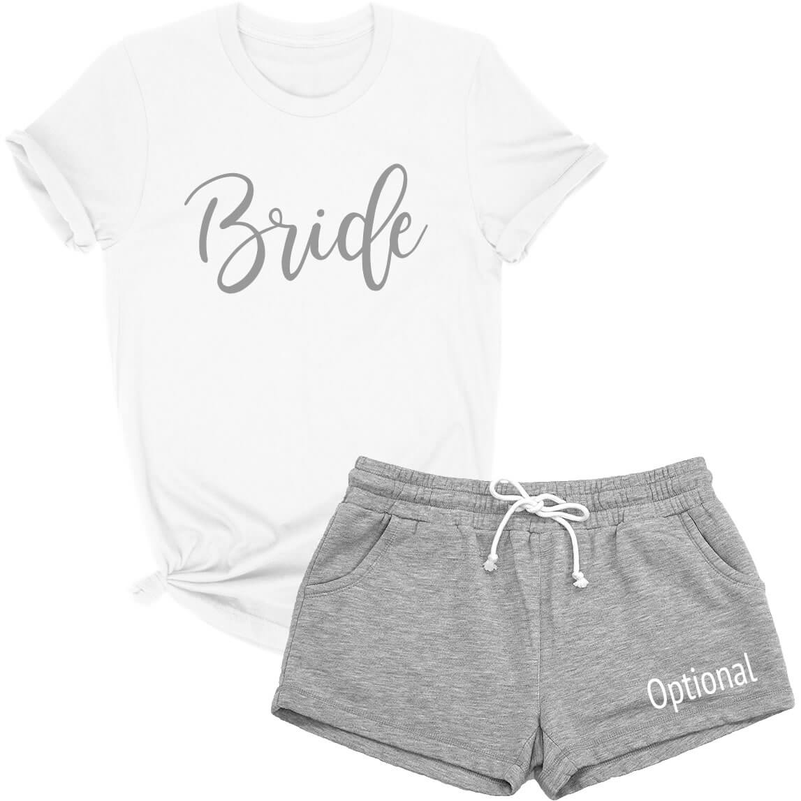 Bride T Shirt Amp Shorts Pajama Set Personalized Brides