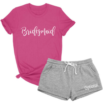 Bridal Party T-Shirt & Shorts Pajama Set