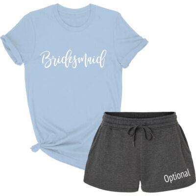 Bridal Party T-Shirt & Shorts Pajama Set