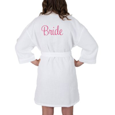 Personalized Waffle Bride Robe