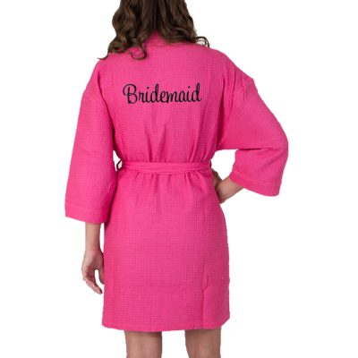 Personalized Waffle Bridesmaid Robe