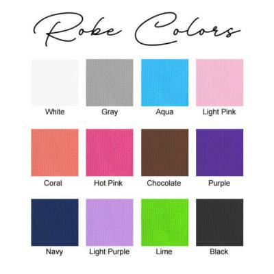 Waffle Robe Colors