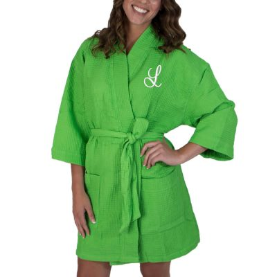 Personalized Waffle Bridal Party Robe with Initial