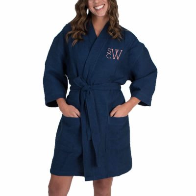 Personalized Waffle Bridal Party Robe with Modern Monogram