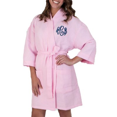 Monogrammed Waffle Bridal Party Robe