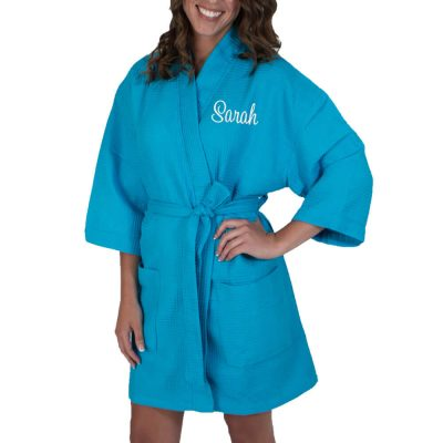 Personalized Waffle Bridal Party Robe with Name