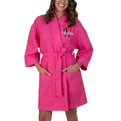 Personalized Waffle Bride Robe with Initial
