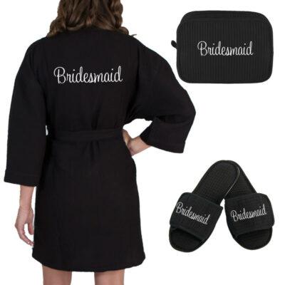 Personalized Bridal Party Waffle Robe Set
