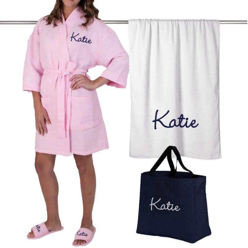 Personalized Bridal Party Gift Bag Spa Set