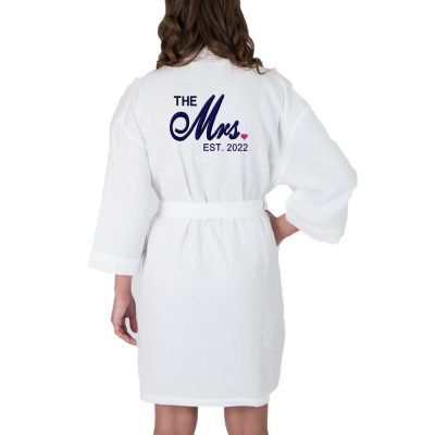 "Personalized ""The Mrs."" Waffle Bride Robe"