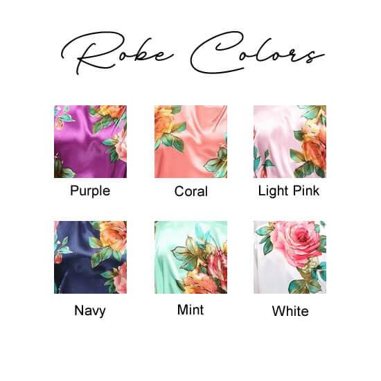 Watercolor Robe Colors