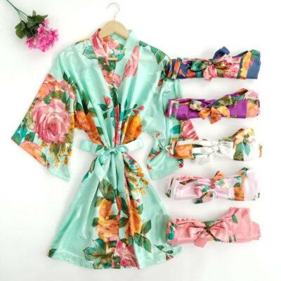 Watercolor Satin Robes