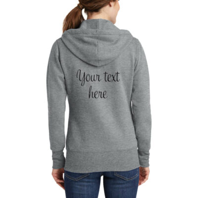 "Personalized ""Just Married"" with Date Full-Zip Embroidered Bride Hoodie"