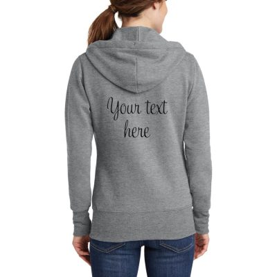 "Personalized ""I Do!"" with Wedding Date Full-Zip Bride Hoodie"